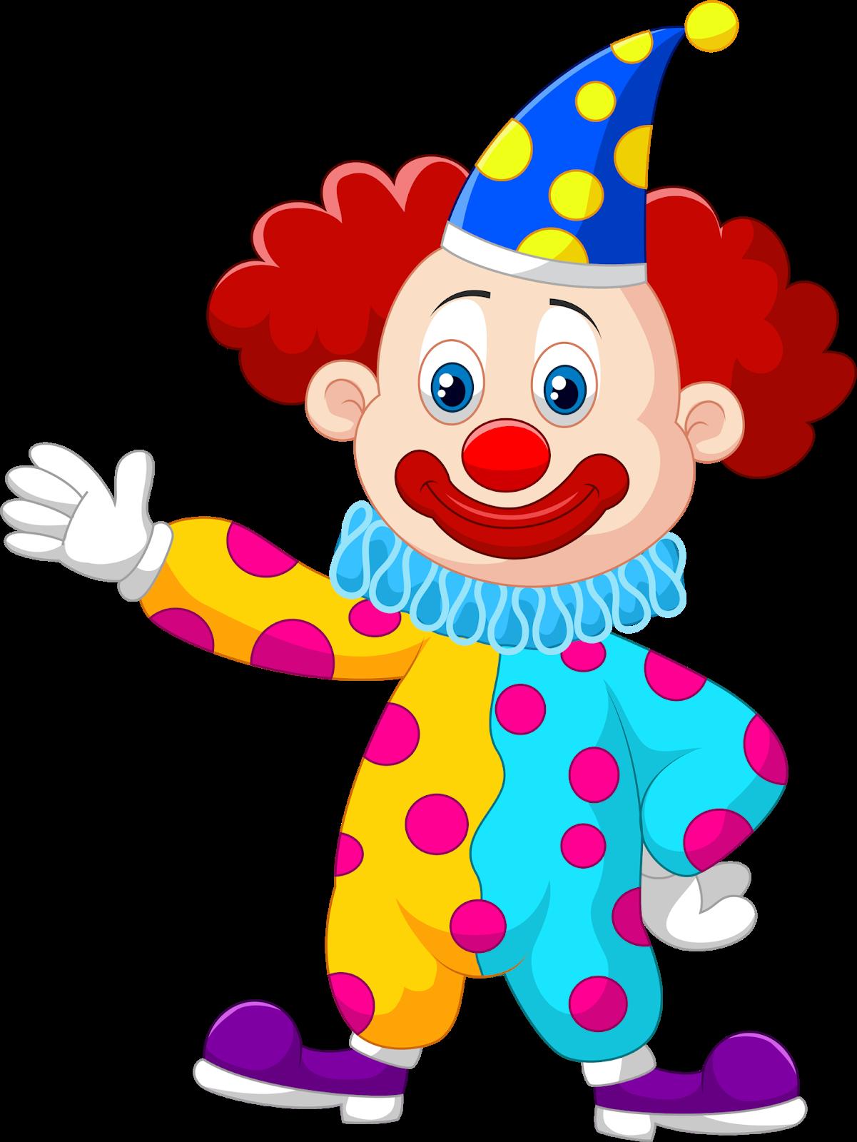 Открытки, рисунки веселого клоуна