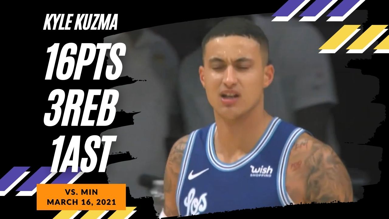 Kyle Kuzma 16pts vs MIN | March 16, 2021 | 2020-21 NBA Season