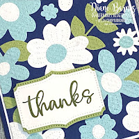 Handmade thankyou card using Stampin Up Pierced Blooms dies, Biggest Wish stamps and Tasteful Textile embossing folder - inlaid embossing technique - card by Di Barnes Independent Stampin Up Demonstrator in Sydney Australia - colourmehappy - sydneystamper - 2021 stampin up catalogue