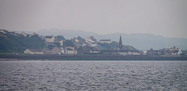 Photo of Maryport through a sea mist on the Solway Firth