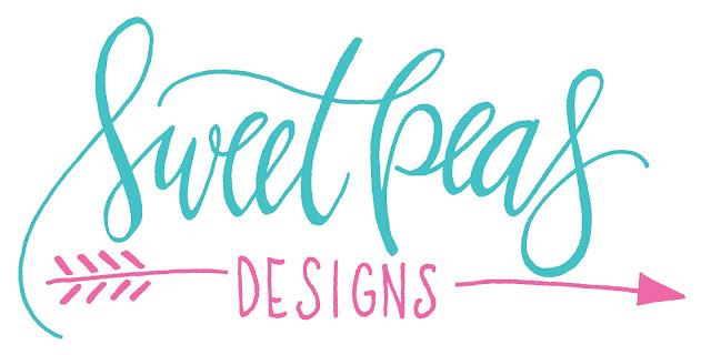 hand lettering, logo design, branding, hand lettered logo, sweet peas designs
