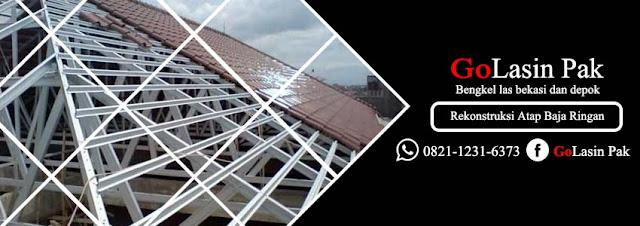harga konstruksi atap baja ringan murah