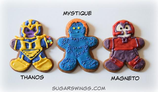 Thanos Mystique Magneto cookies