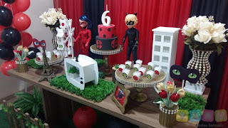 Decoração festa infantil Miraculous Ladybug