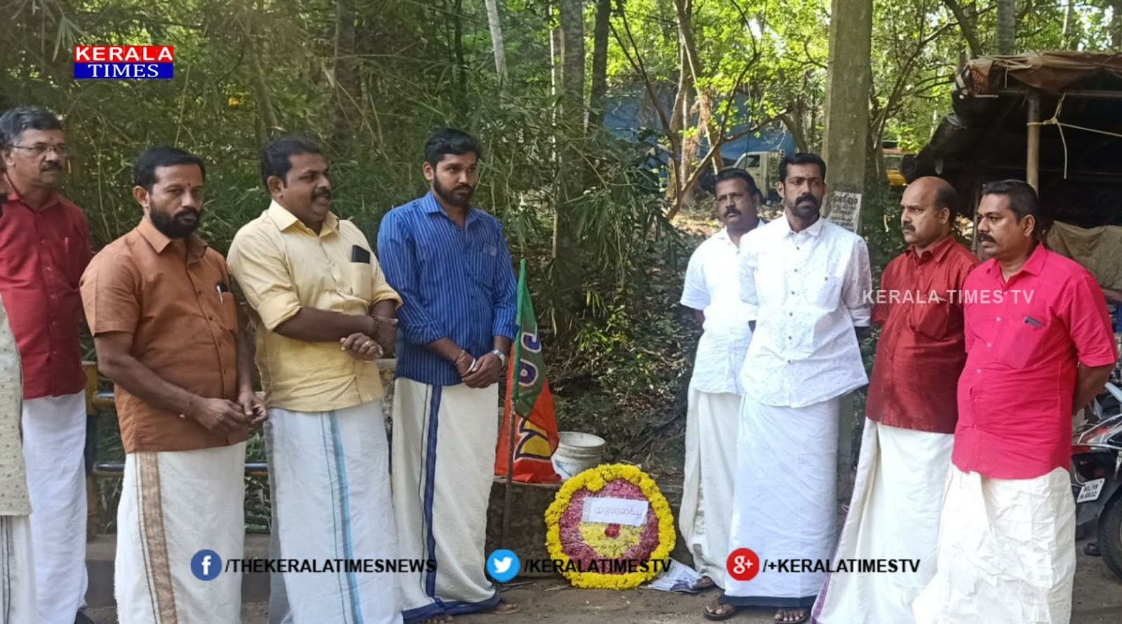Overloaded vehicles destroying the causeway;  Young Mormon activists protested with wreaths,www.thekeralatimes.com