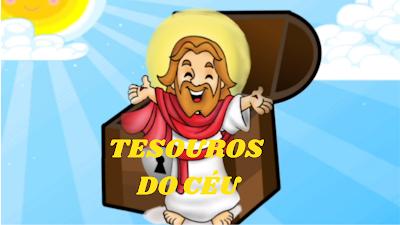 Jesus ao lado do baú representando nosso versadeiro tesouro