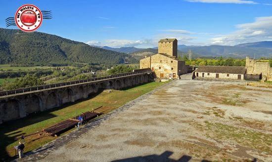Antiguo castillo de Aínsa en Huesca