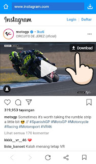 Cara download video instagram dengan aplikasi