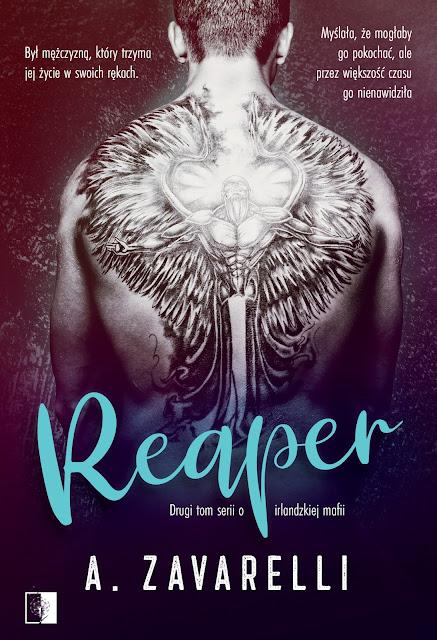 """A. Zavarelli """"Reaper"""" z nakładu Wydawnictwa NieZwykłego, która swoją premierę mieć będzie 17.02.2021"""