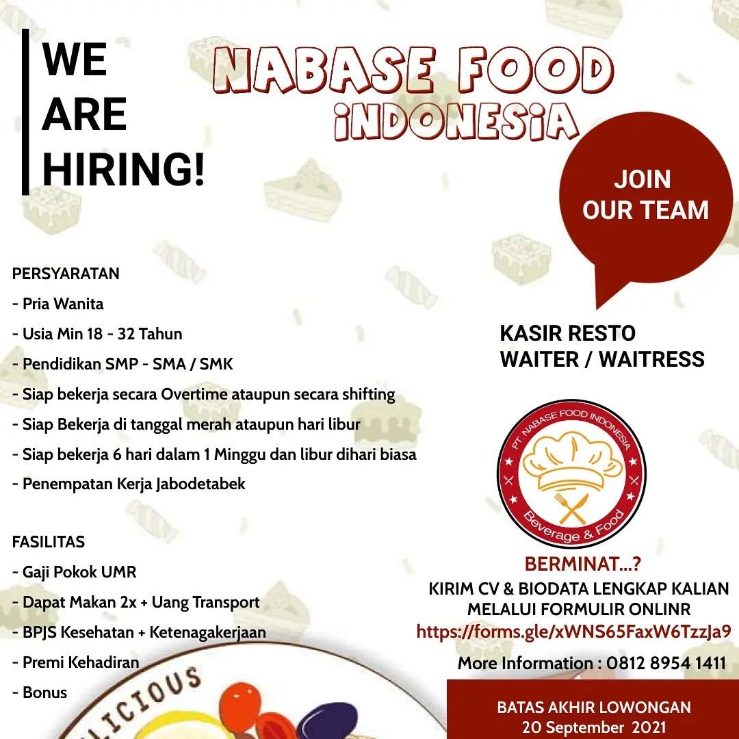 Lowongan Kerja PT. Nabase Food Indonesia