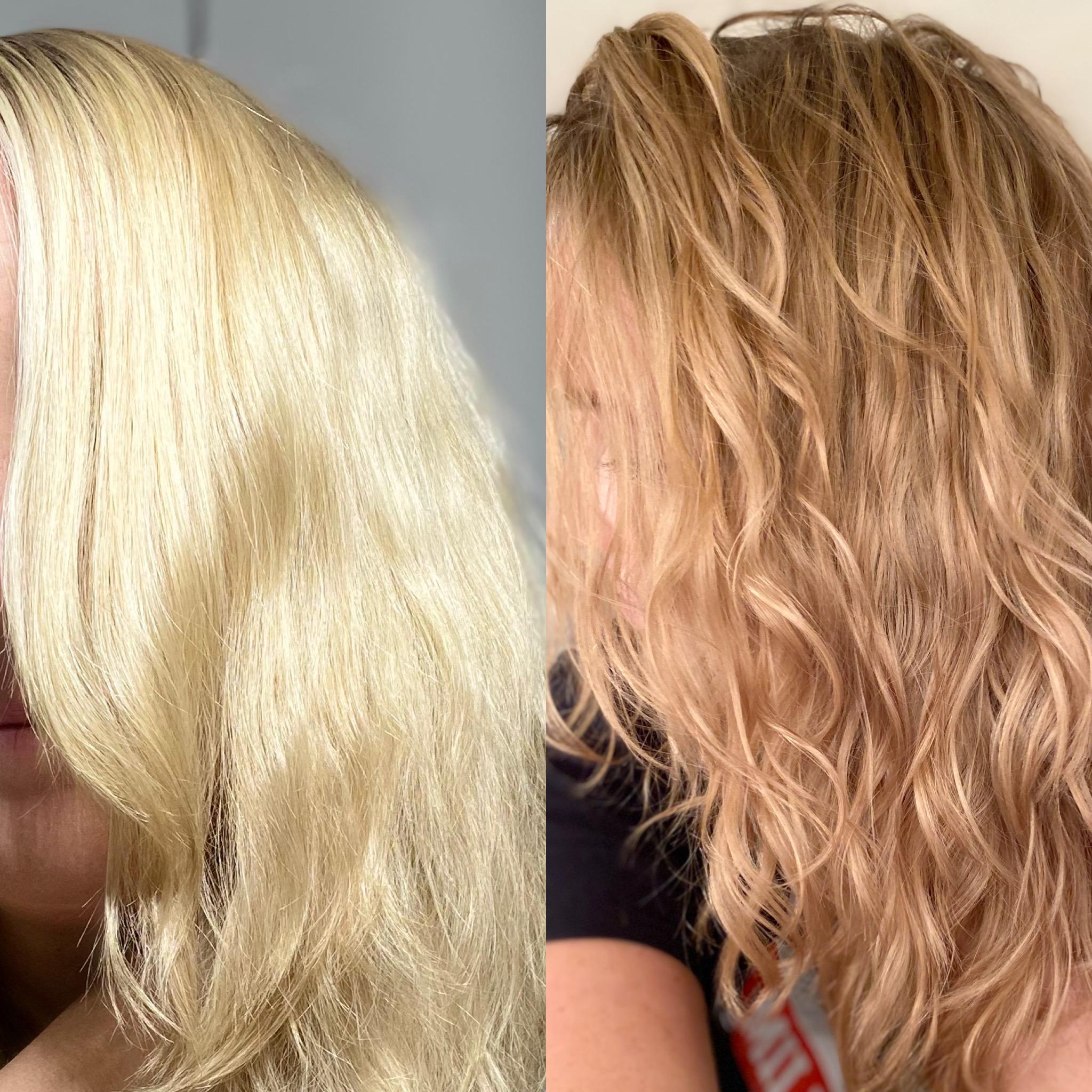 Blondierte haare mittelblond tönen