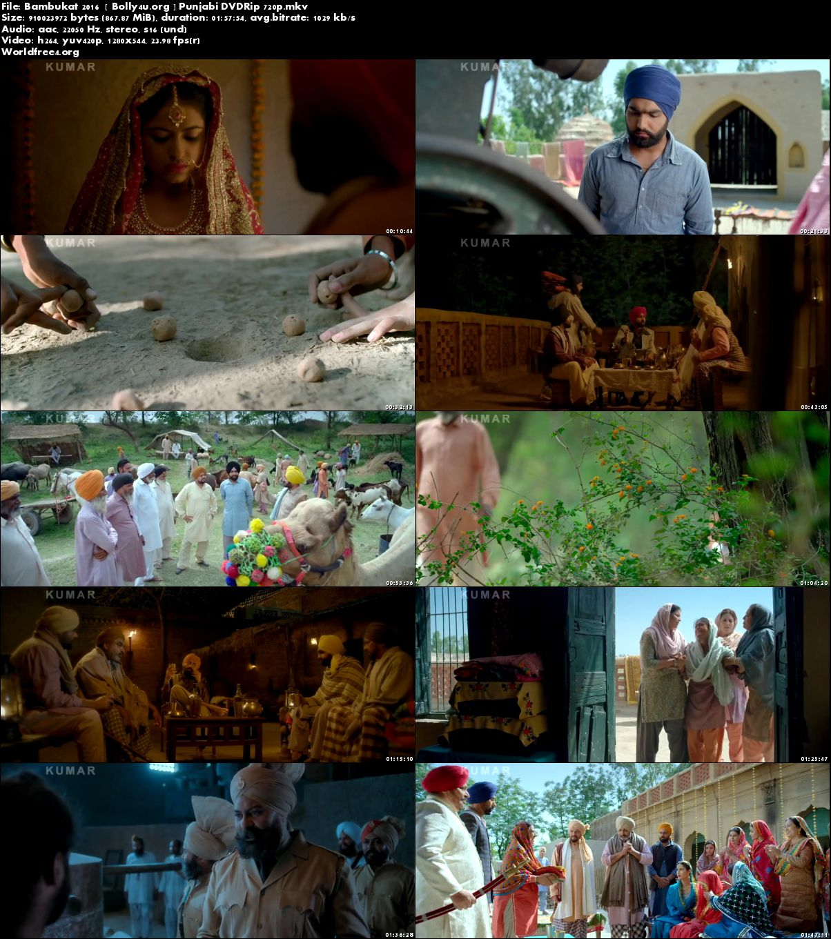 Bambukat 2016 DVDRip 350Mb Punjabi 480p Download