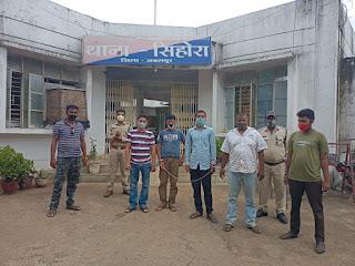 फर्जी दुकान/व्यवसाय के नाम पर लोन लेकर रूपये वापस न कर धोखाधडी करने वाले 5 आरोपी गिरफ्तार