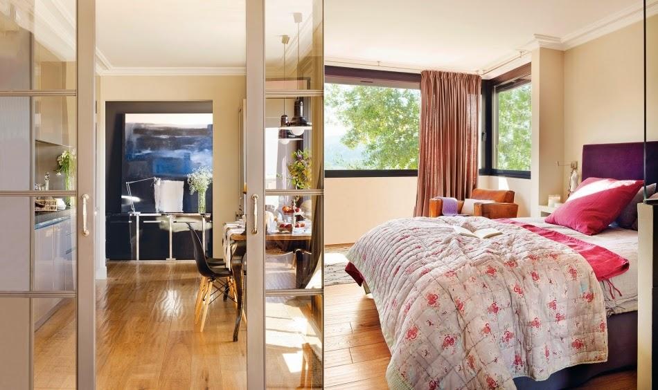 Mieszkanie na poddaszu z czarnymi akcentami, wystrój wnętrz, wnętrza, urządzanie domu, dekoracje wnętrz, aranżacja wnętrz, inspiracje wnętrz,interior design , dom i wnętrze, aranżacja mieszkania, modne wnętrza, styl nowoczesny, modern style, styl klasyczny, sztukateria, czarne dodatki, sypialnia