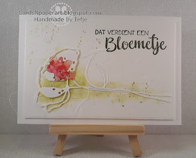 A.Renke die cut with distress watercolour background