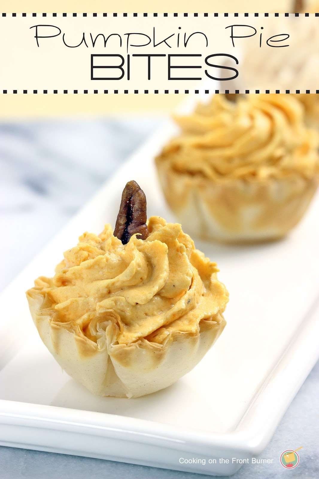 No-Bake Pumpkin Pie Bites | Cooking on the Front Burner