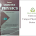 Class 11 Azeem Academy Physics Objective Notes