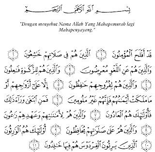 Bacaan Surat Al-Mu'minun Lengkap Arab, Latin dan Artinya