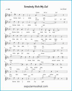 chord somebody stole my gal lagu jazz standar