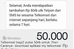 Pulsa 50rb Gratis dari Telkomsel