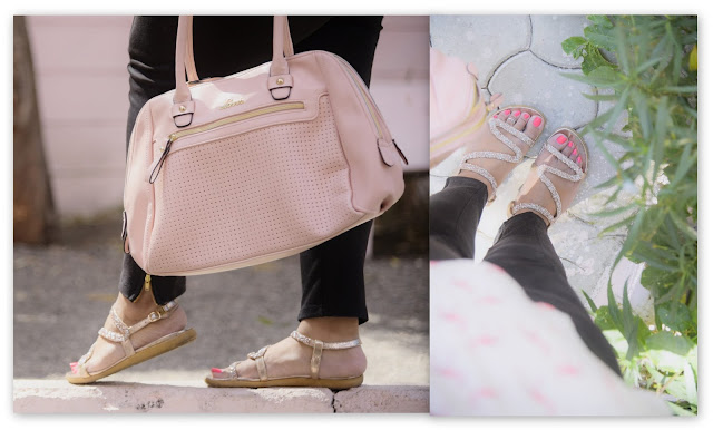 lavie bag pink bag strappy sandals gold footwear