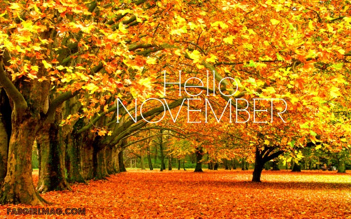 Hello November: 7 Goals For a Great Month | Fab Girl Magazine