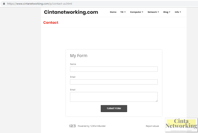 Cara Mudah Membuat Contact Form (Contact Us) Sederhana Di Blog - Cinta Networking