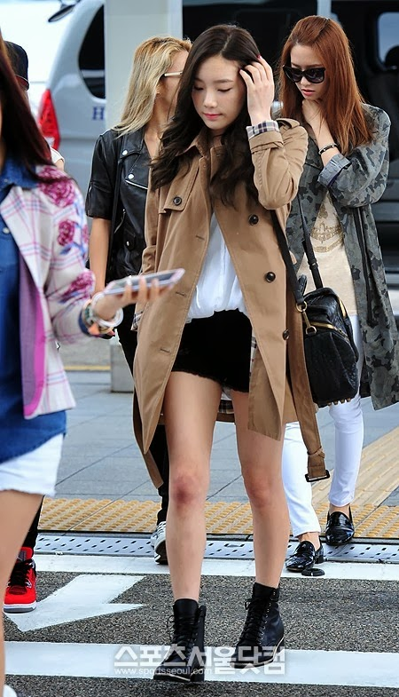 Snsd Taeyeon Airport Fashion Official Korean Fashion