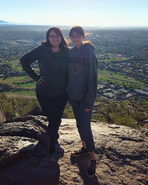 Tracie and Katarina on Camelback Mountain