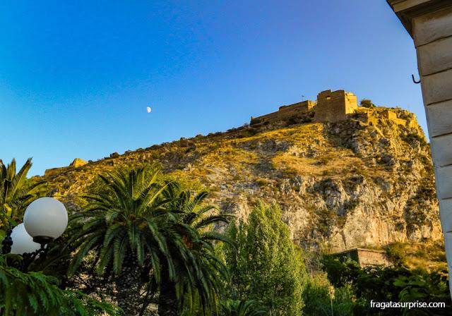 Fortaleza de Palamidi, a 216 metros de altura, em Nafplio, Grécia