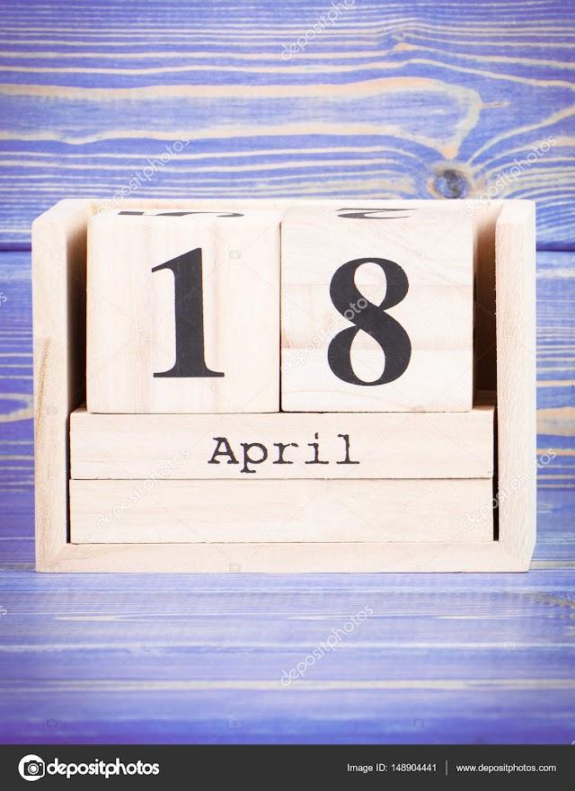 18 de Abril- O dia de hoje na história: fatos e acontecimentos em Elesbão Veloso.