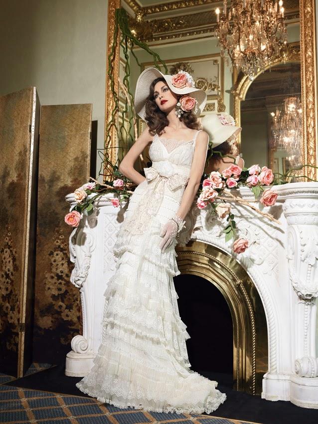 temi nozze 2014 collezione sposa YolanCris modello Mexico