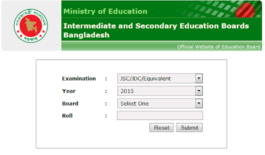 SSC Result 2016 BD - published educationboardresults.gov.bd