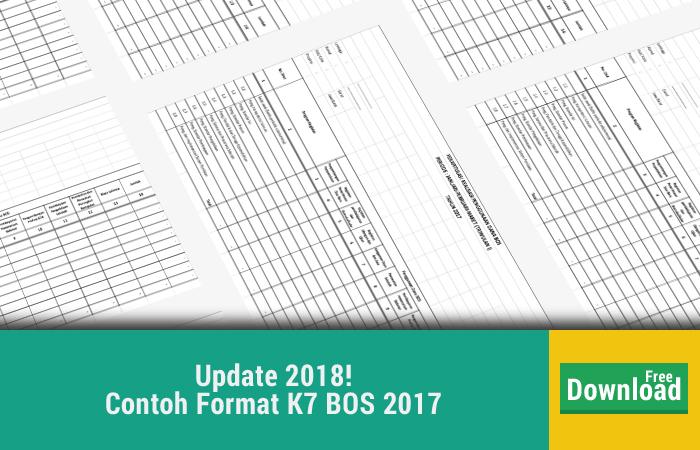 Contoh Format K7 BOS 2017