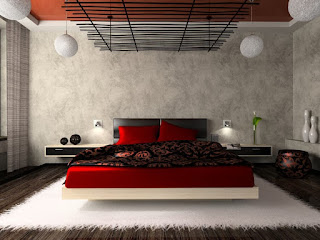 Red And Black Bedroom-Red Bedding