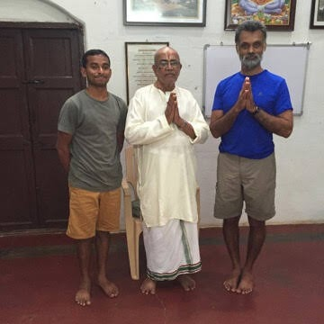 Kushal with BNS Iyengar in Mysore