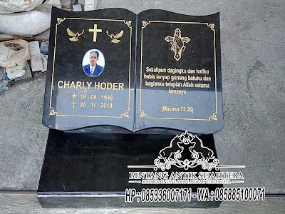 Batu Nisan Model Buku, Nisan Granit, Model Batu Nisan Terbaru