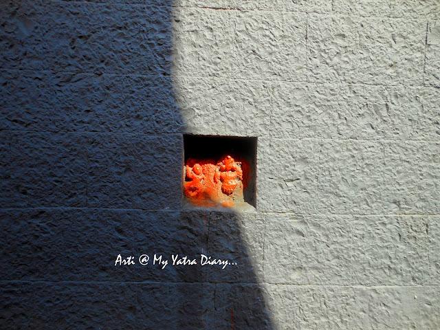 Stone walls at the Bhairavnath temple, Saswad, Pune, Maharashtra