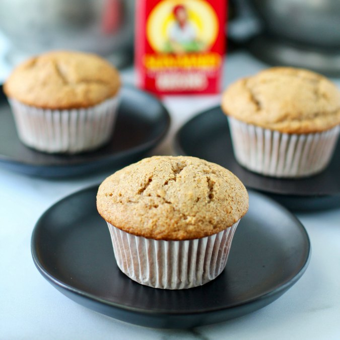 Cinnamon Applesauce & Raisin Muffins on plates