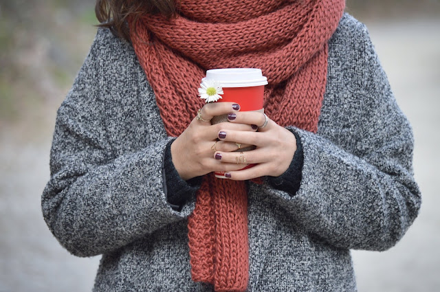 Cardigan and scarf combo Photo by Karen Cantú Q on Unsplash