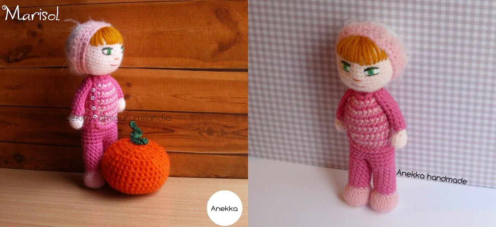 muñeca  rosa amigurumi  pink doll