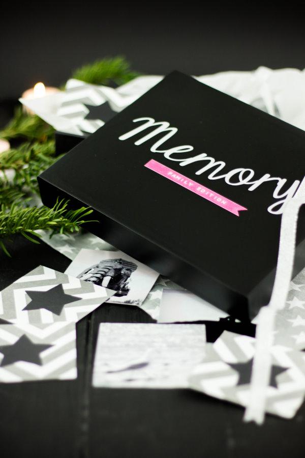 DIY Geschenk zu Weihnachten: Memory aus Fotos für die ganz Familie