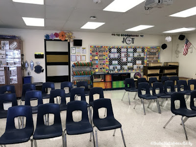 Be inspired by this farmhouse themed music room.  Rustic decor and bold accents help set this music classroom up for optimal learning.  Bulletin boards, flexible seating, organization ideas and more!