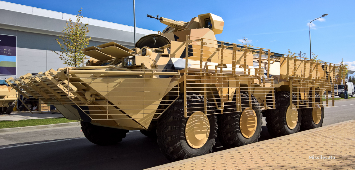 БТР-80 з бойовим модулем 6С21 (14,5-мм кулемет)