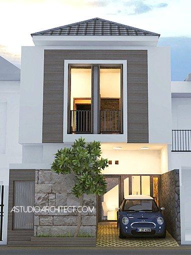 Desain rumah lebar 6 panjang 8 meter