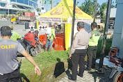 Jelang Operasi Ketupat Toba 2020, Polsek Medan Helvetia Bersih-Bersih Pos Pam Manhattan