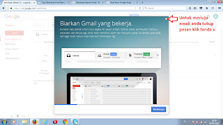 Halaman Mailbox tertutup pesan