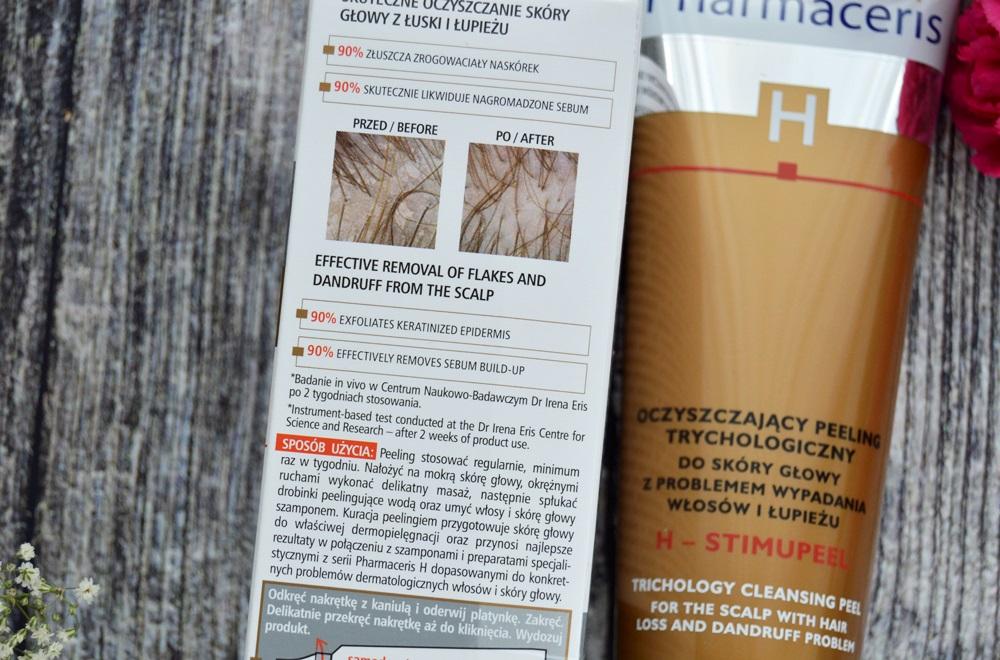 Pharmaceris oczyszczający peeling trychologiczny do skóry głowy z problemem wypadania włosów i łupieżu
