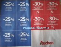 Logo Auchan '' Tu scegli, Tu sconti'': buoni sconto da ritagliare a volantino