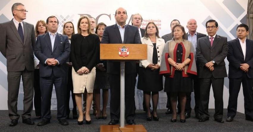 Fernando Zavala y todo el Gabinete confirman asistencia al pleno del Congreso de la República